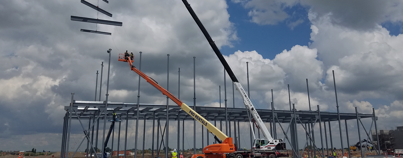 Erectors Working - Intermountain Erectors - Steel Beam Construction
